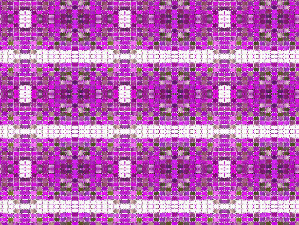 紫色のモザイク模様