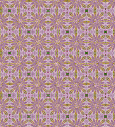 紫色の花模様