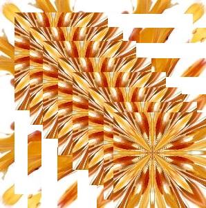 オレンジ色の花を重ねた模様.jpg